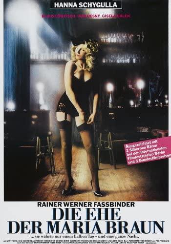 affiche du film de Fassbinder die Ehe der Maria Braun