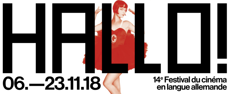 Affiche du festival de cinéma alsacien Augenblick édition 2018 avec l'actrice Louise Brooks en arrière-plan