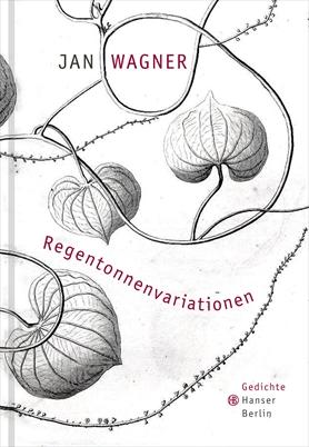 Couverture du recueil de poèmes de Jan Wagner. Entrelacs de feuilles nervurées dans des nuances de gris