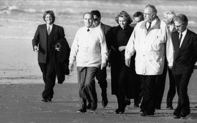 Mitterrand Kohl janvier 1990