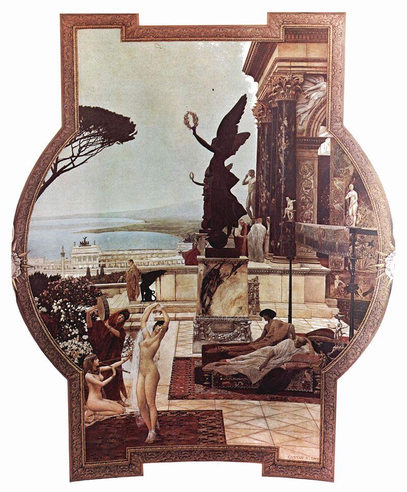 Klimt, im Burgtheater 1888