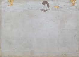 Des femmes-génies flottent le long de la marge supérieure du tableau. Elles ondulent comme de l'eau et leurs yeux sont fermés comme s'ils dormaient. Toute la partie inférieure de la frise est blanche, épurée.
