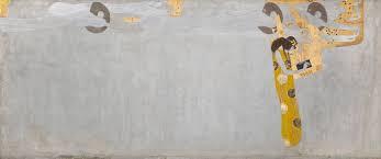 Cette frise, majoritairement blanche et or, représente des génies qui volent vers une joueuse de harpe dorée, figurant la poésie.