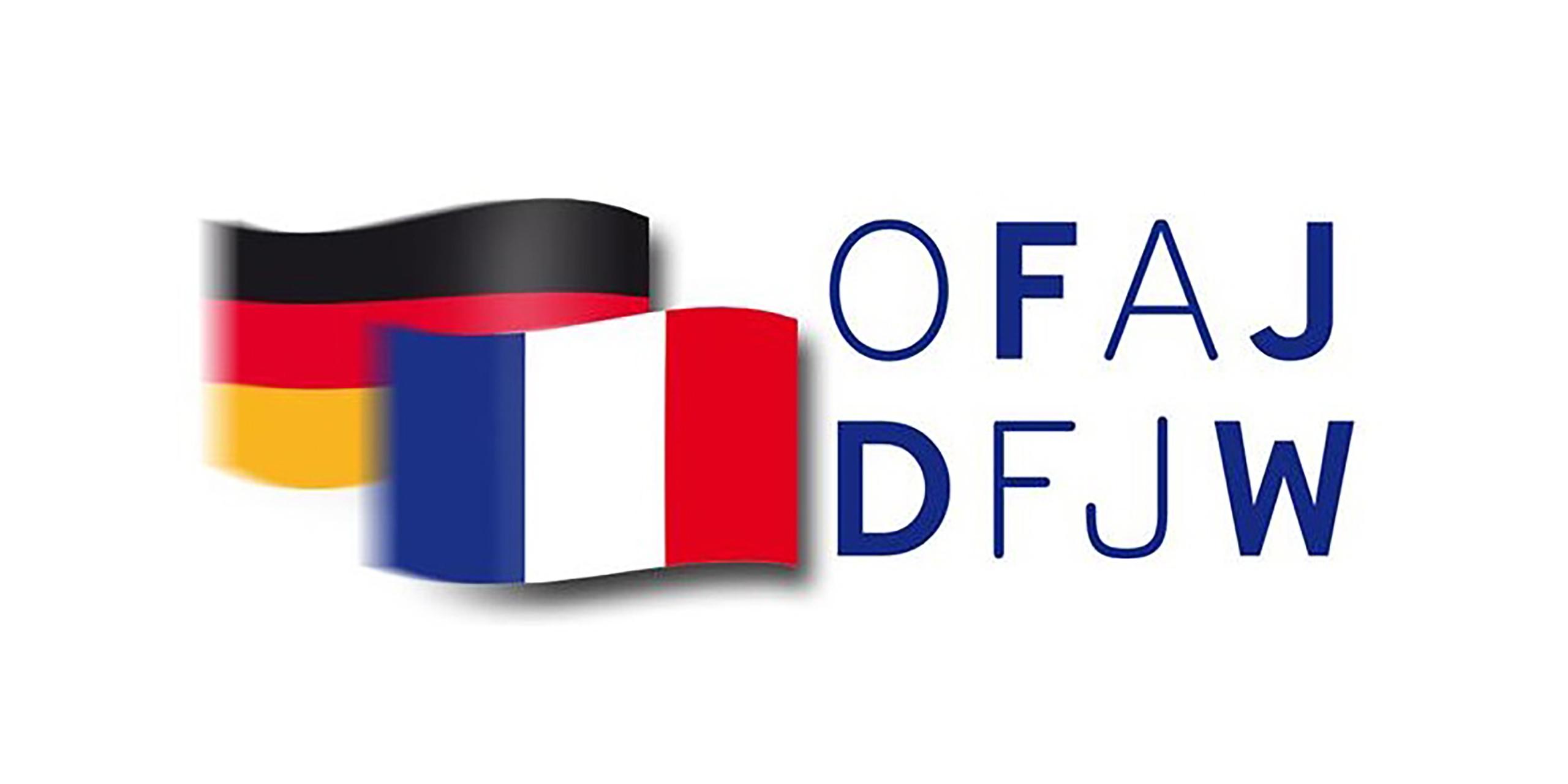Logo OFAJ DFJW avec drapeaux allemand et français