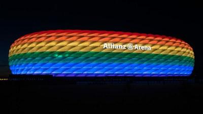 Munich Allianz Arena bunt