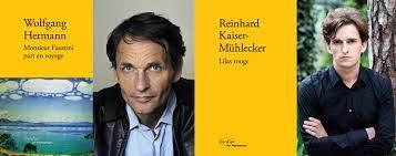 Portraits des écrivains autrichiens Wolfgang Hermann et Reinhard Kaiser-Mühlecker