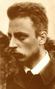 Photo portrait de Rainer Maria Rilke couleur sépia prise autour de 1900