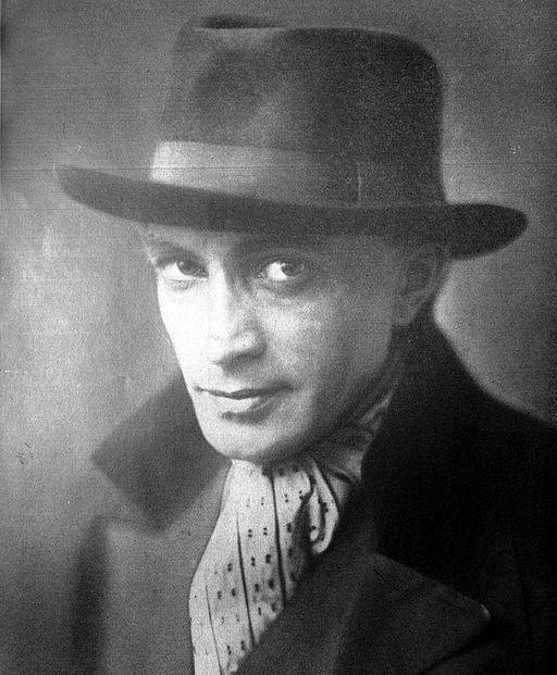 Portrait photo en noir et blanc de l'acteur Conrad Veidt