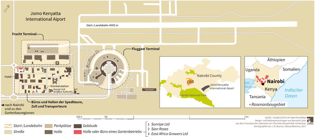 plan de l'aéroport de Nairobi