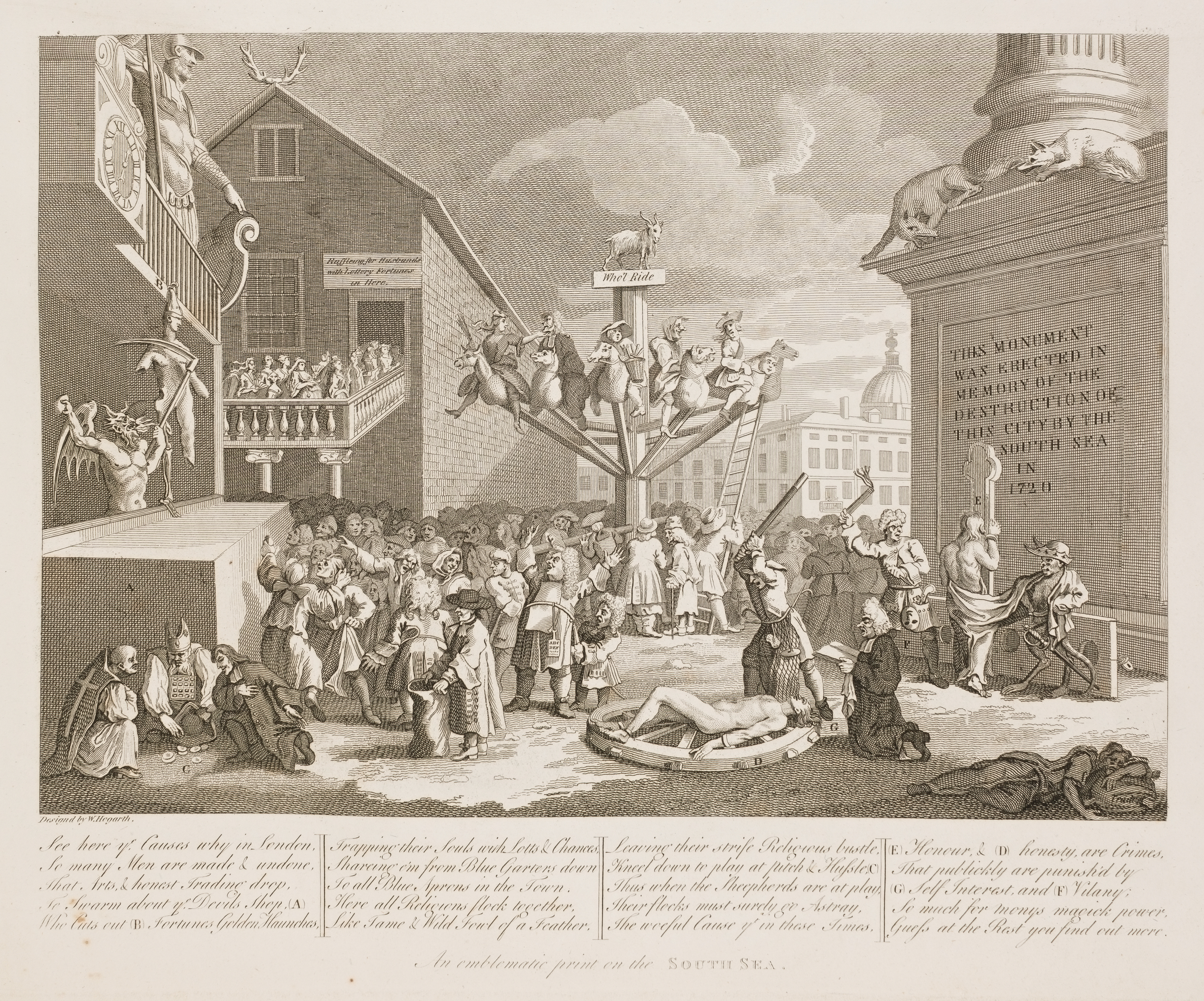 An emblematic print of the South Sea