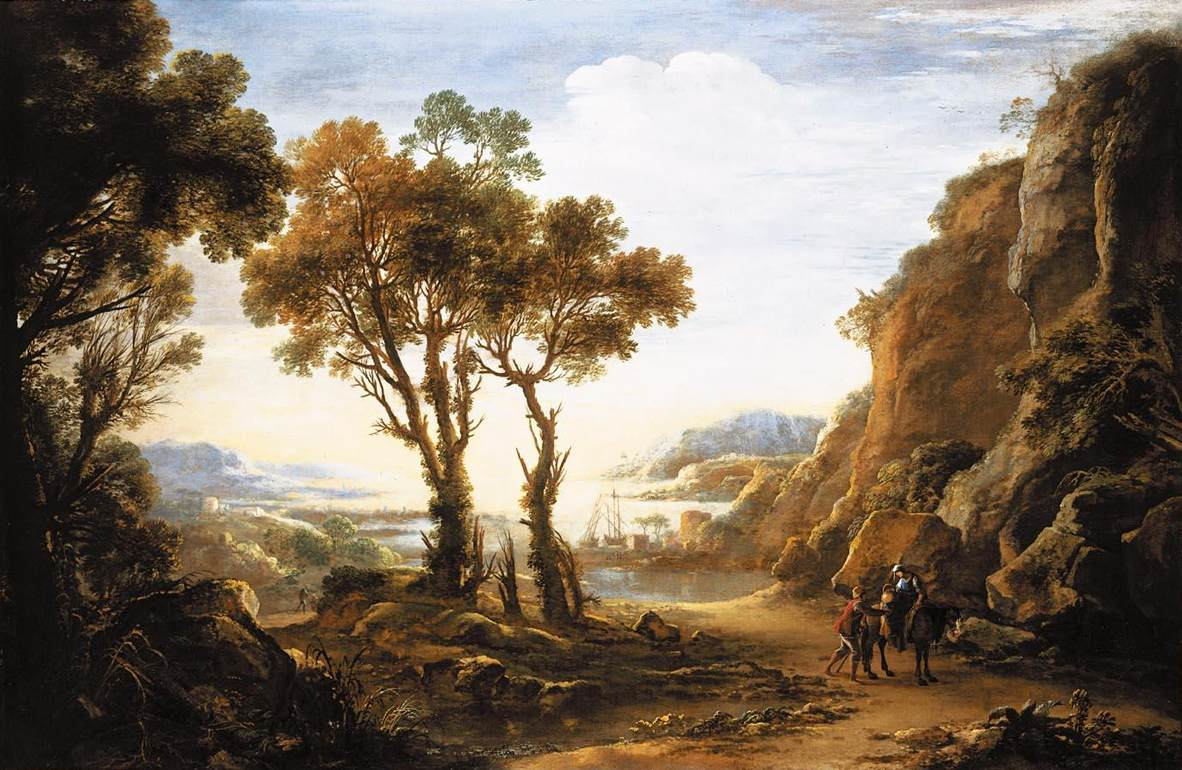 Evening Landscape by Salvator Rosa, 1640 1643