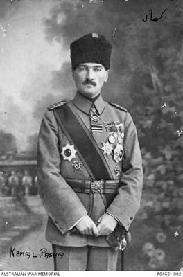 Formal portrait of Kemal Pasha