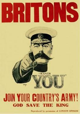 Join your country's army, Affiche de recrutement