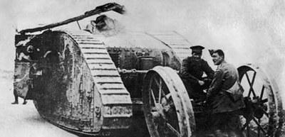 Un des premiers chars utilisés