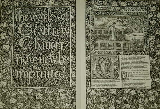 DOC 1: Title page of the Kelmscott Chaucer