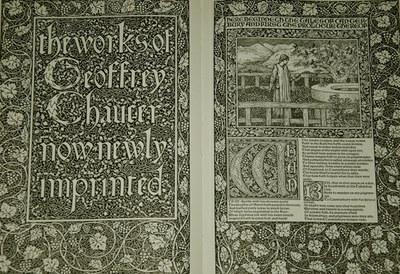 DOC 1: Title page of the Kelmscott Chaucer