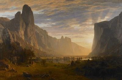 Looking Down Yosemite Valley, California, 1865 Albert Bierstadt