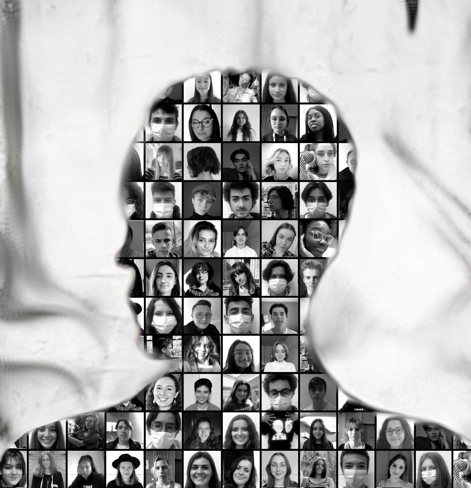 Montage photo des élèves du lycée Blaise Pascal (Charbonnières-les-Bains)