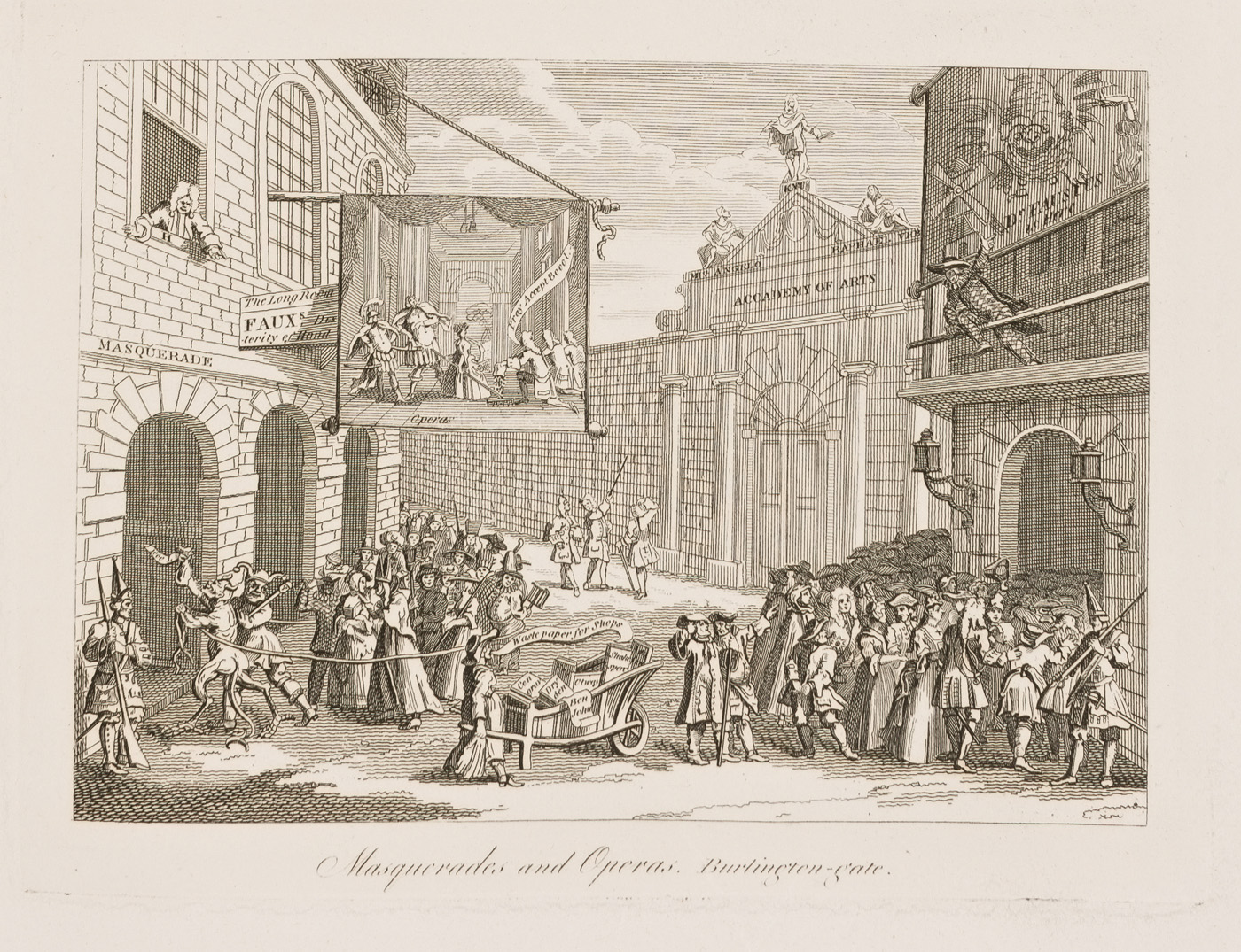 Masquerades and Operas. Burlington-gate