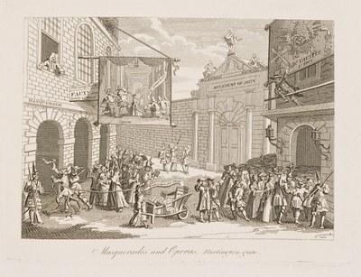 Masquerades and Operas. Burlington-gate