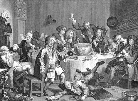 William Hogarth, A Modern Midnight Conversation