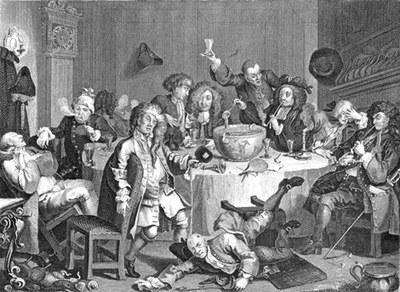 William Hogarth, A Modern Midnight Conversation