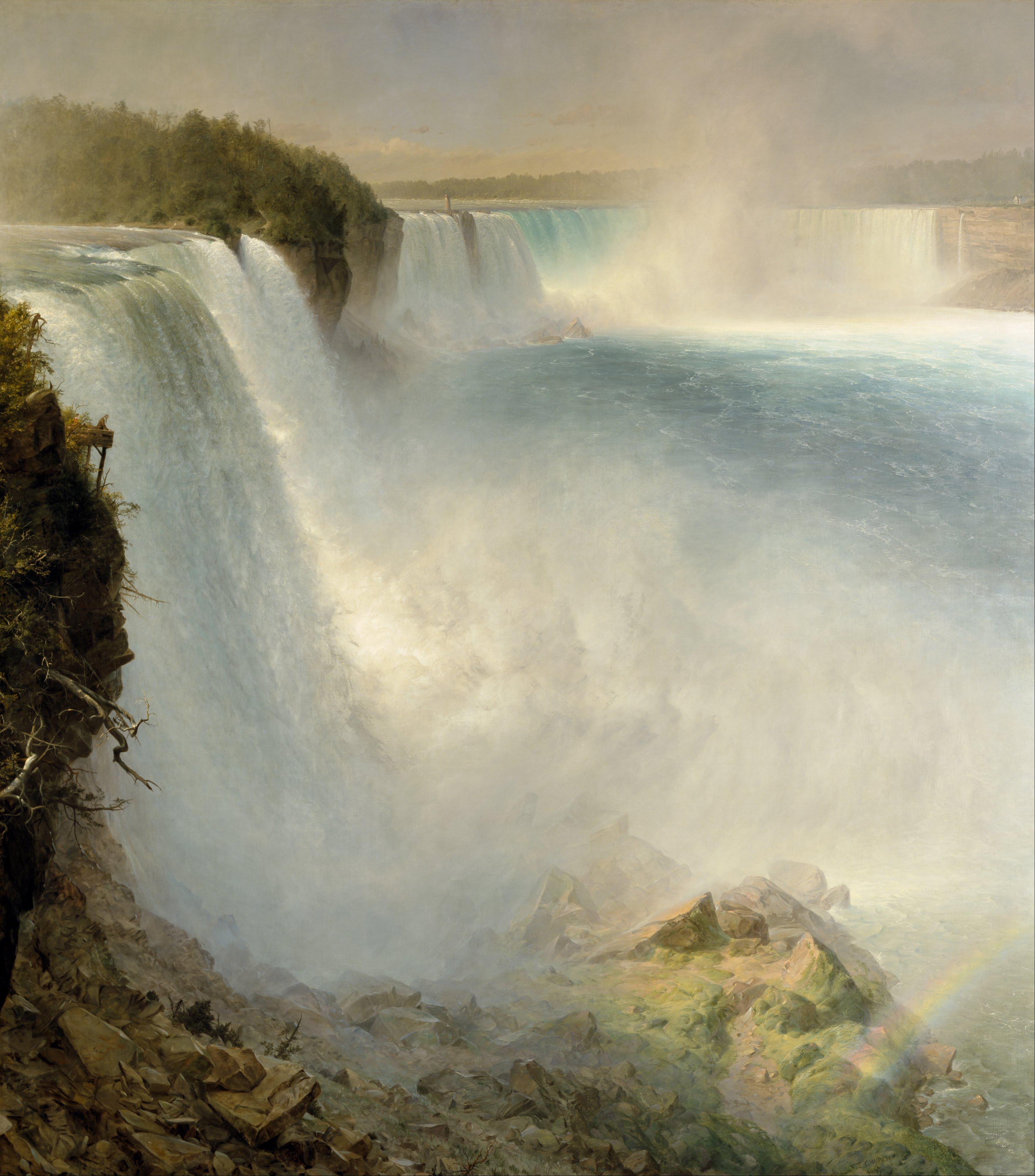 Niagara Falls, from the American Side, 1867, Frederic Edwin Church (American, 1826-1900)