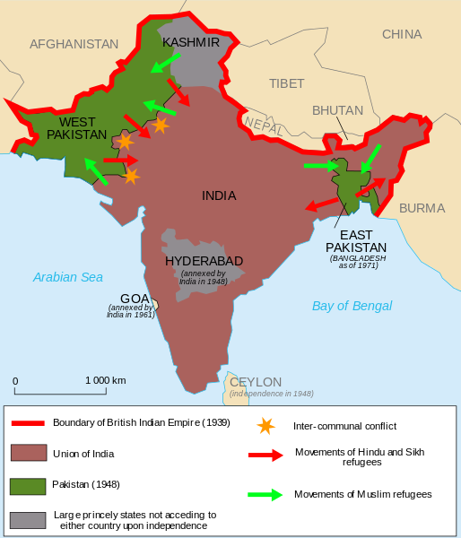 The partition of India (1947)