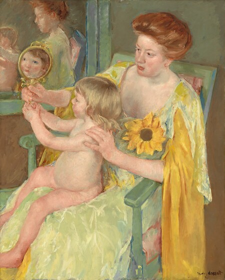Mary Cassatt - Woman with a Sunflower