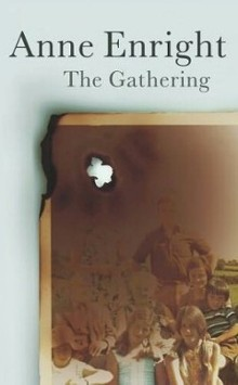 Front cover of the hardback first edition of The Gathering, published in the UK by Jonathan Cape.