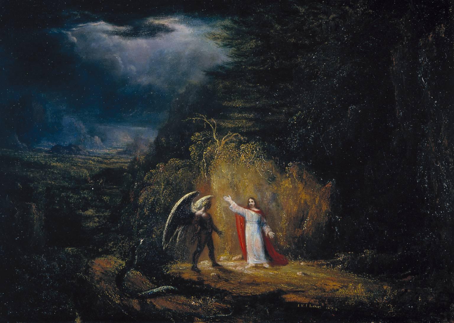 The Temptation in the Wilderness, John St John Long, 1824.