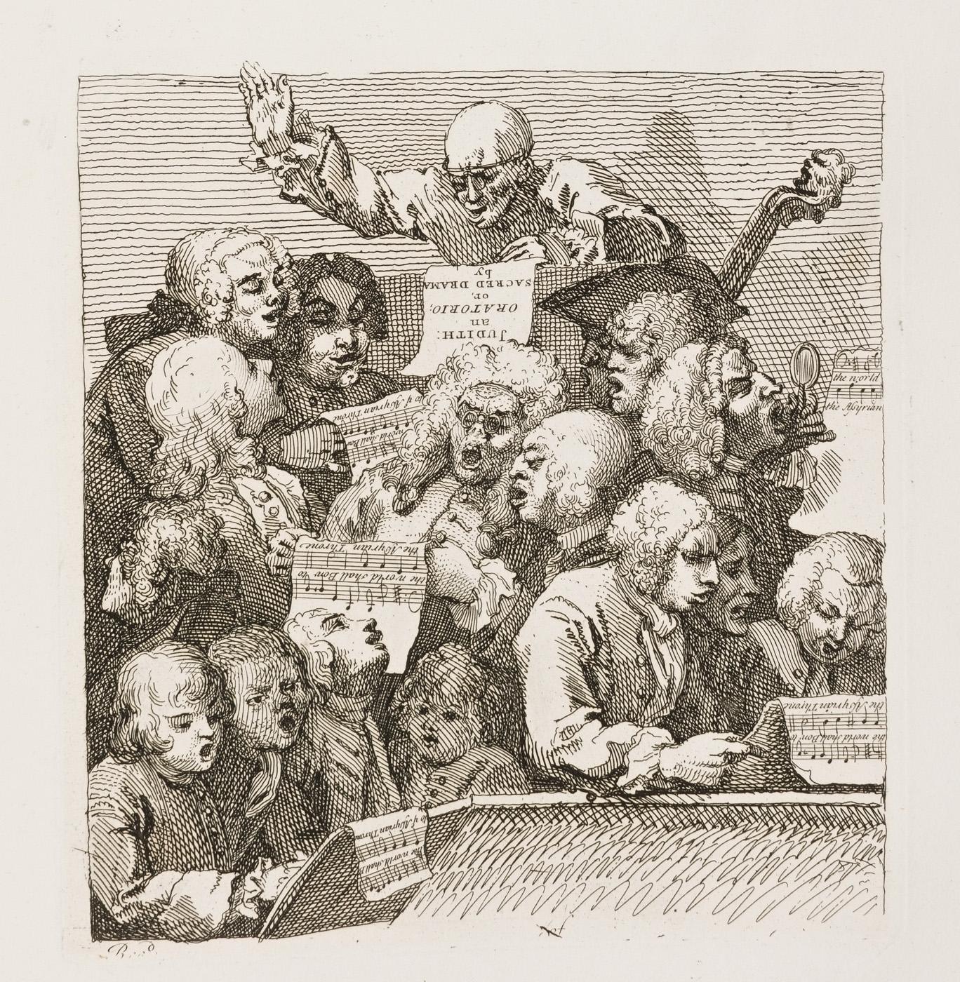 William Hogarth - A Chorus of Singers