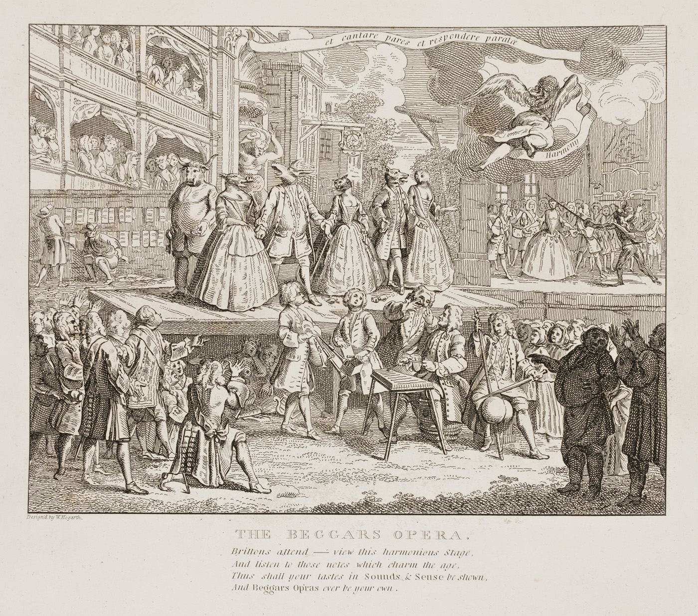 William Hogarth - Beggars' Opera Burlesqued