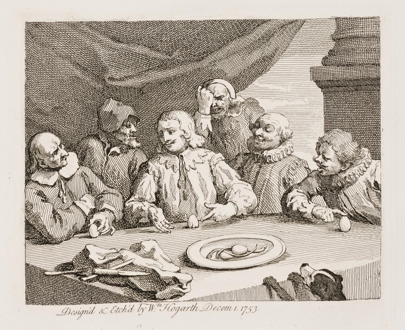 William Hogarth - Columbus Breaking the Egg