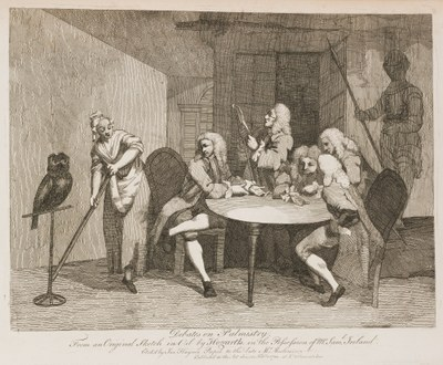 William Hogarth - Debates on Palmistry