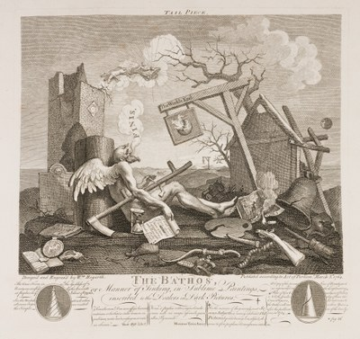 William Hogarth - Finis, on The Bathos