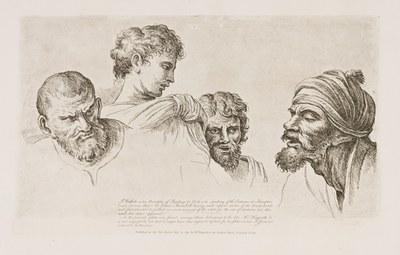 William Hogarth - Four Heads from the Cartoons