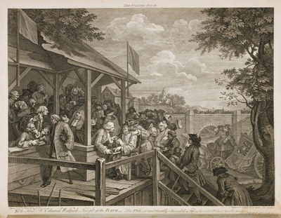 William Hogarth - Four prints of an election - The Polling