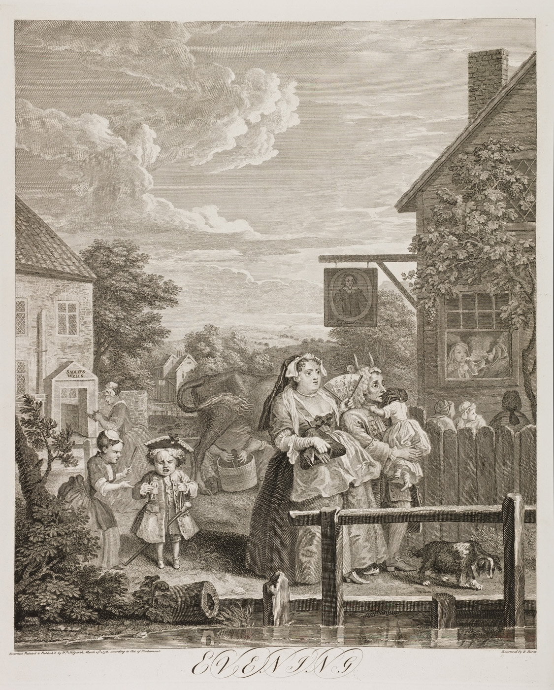 William Hogarth - Four Times of Day (evening)