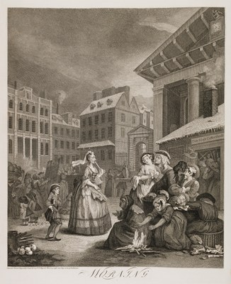 William Hogarth - Four Times of Day (morning)