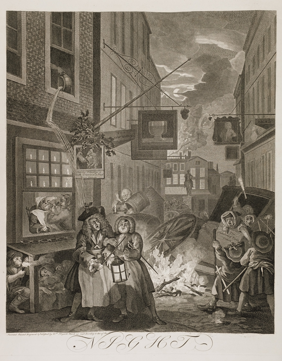 William Hogarth - Four Times of Day (night)