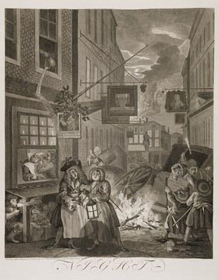 William Hogarth - Four Times of Day (night)