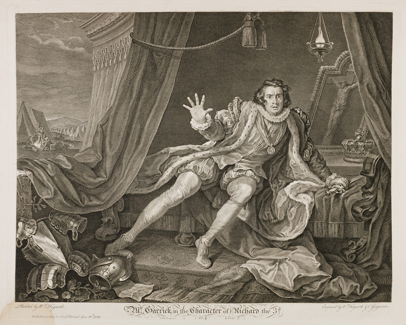 William Hogarth - Garrick in King Richard III