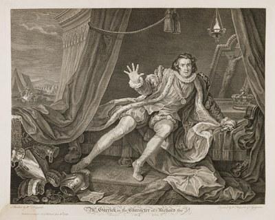 William Hogarth - Garrick in King Richard III