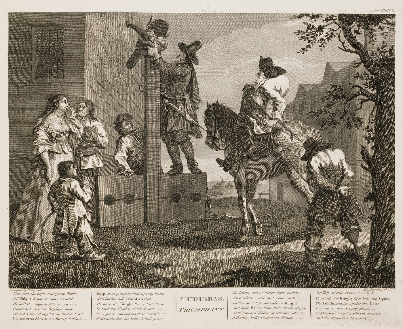 William Hogarth - Hudibras plate 10