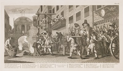 William Hogarth - Hudibras plate 11