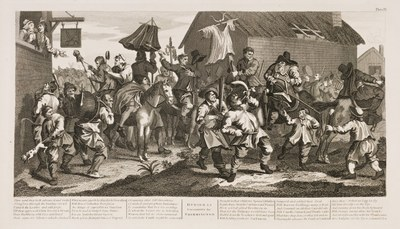 William Hogarth - Hudibras plate 12