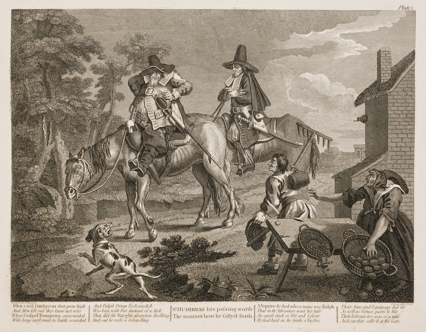 William Hogarth - Hudibras plate 2