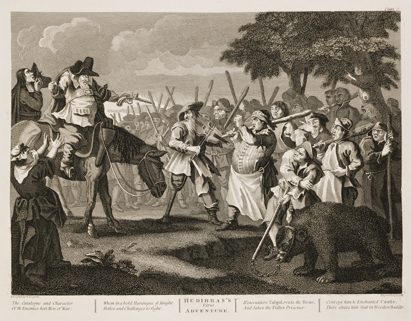 William Hogarth - Hudibras plate 3