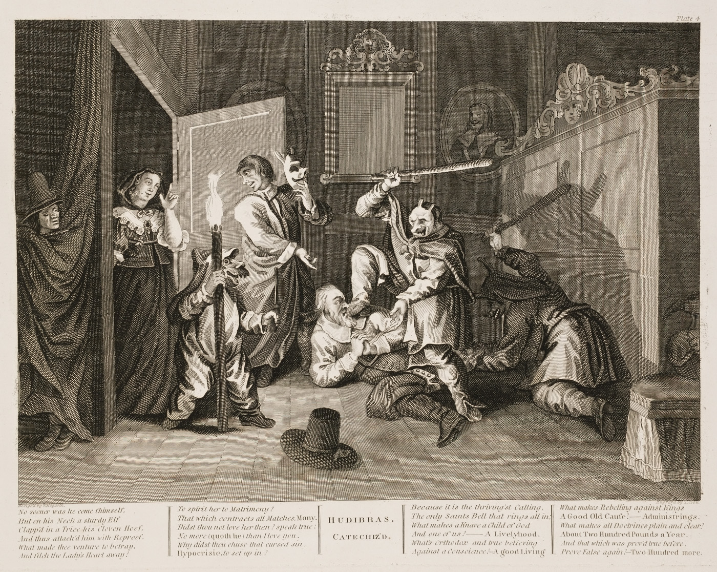 William Hogarth - Hudibras plate 4